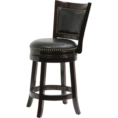 Carstensen 29 Swivel Bar Stool Finish: Cappuccino