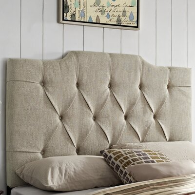 Martha Upholstered Panel Headboard Size: King / California King