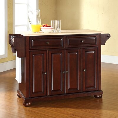 Pottstown Kitchen Island with Wood Top Base Finish: Vintage Mahogany