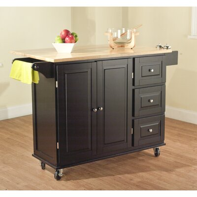 Arpdale Kitchen Island with Wood Top