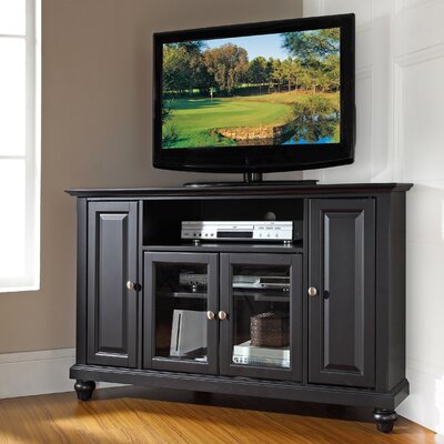 Merilee 48 Corner TV Stand Color: Black