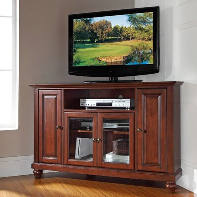 Merilee 48 Corner TV Stand Color: Vintage Mahogany