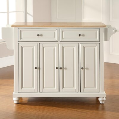 Goreville Kitchen Island Base Finish: White