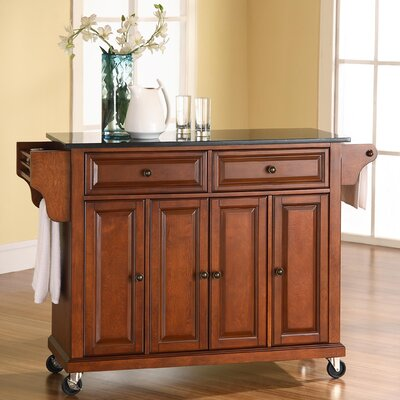 Pottstown Kitchen Island with Granite Top Base Finish: Classic Cherry