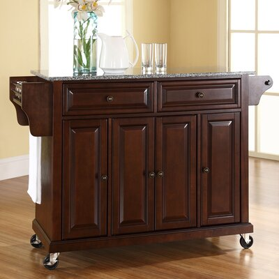 Pottstown Kitchen Cart/Island with Granite Top Base Finish: Vintage Mahogany