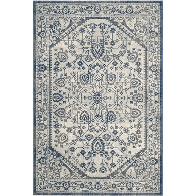 Harwood Cotton Silver/Blue Area Rug Rug Size: Rectangle 67 x 9
