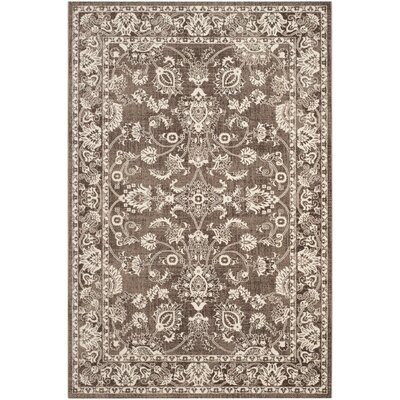 Harwood Cotton Brown/Brown Area Rug Rug Size: Rectangle 51 x 76