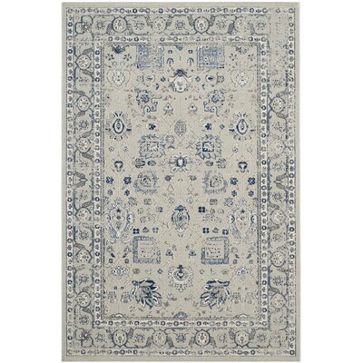 Harwood Silver/Silver Area Rug Rug Size: Rectangle 51 x 76