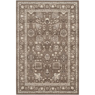 Harwood Brown/Brown Area Rug Rug Size: Rectangle 51 x 76
