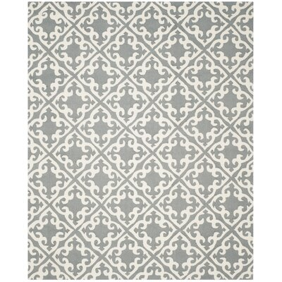 Lima Gray/Ivory Area Rug Rug Size: Rectangle 8 x 10