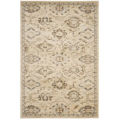 Florenteen Ivory/Gray Area Rug Rug Size: Rectangle 3 x 5