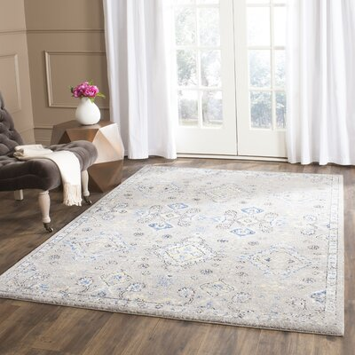 Minonk Dark Gray/Yellow Area Rug Rug Size: 10 x 14