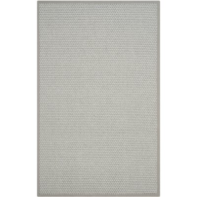 Natural Fiber Silver/Gray Area Rug Rug Size: Rectangle 5 x 8