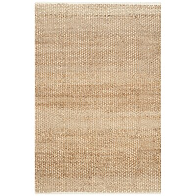 Natural Fiber Ivory/Natural Area Rug Rug Size: Rectangle 26 x 4