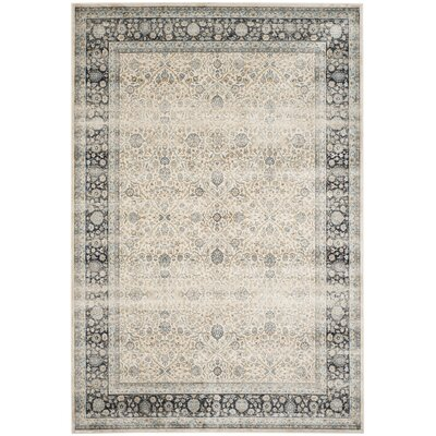 Persian Garden Vintage Ivory/Navy Area Rug Rug Size: 8 x 11