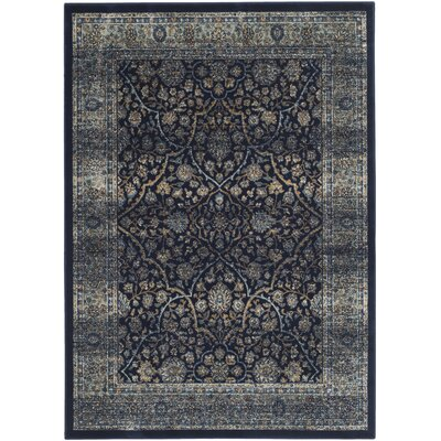 Persian Garden Vintage Navy/Light Blue Area Rug