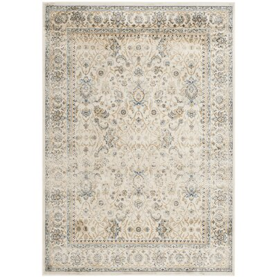 Persian Garden Vintage Ivory/Ivory Area Rug Rug Size: Rectangle 4 x 57