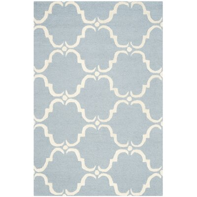 Cambridge Blue/Ivory Area Rug Rug Size: Square 8
