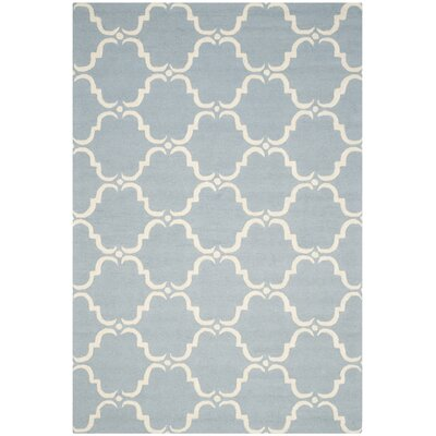 Cambridge Blue/Ivory Area Rug Rug Size: 6 x 9