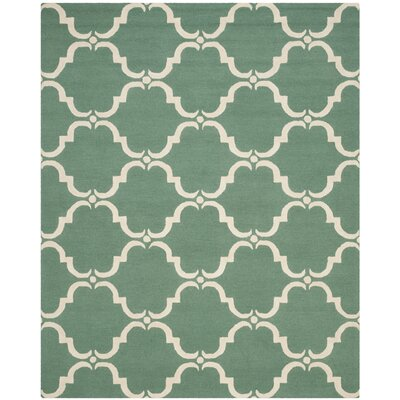 Cambridge Teal/Ivory Area Rug Rug Size: 8 x 10