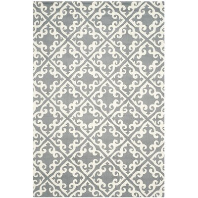 Lima Gray/Ivory Area Rug Rug Size: Rectangle 5 x 8