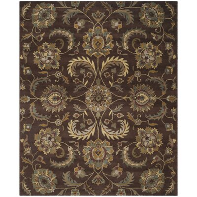 Heritage Brown/Gold Area Rug Rug Size: 8 x 10