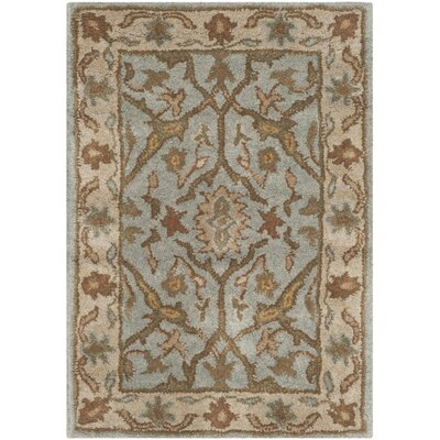Heritage Tufted Wool Light Blue/Ivory Area Rug Rug Size: Rectangle 2 x 3