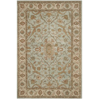 Heritage Tufted Wool Light Blue/Ivory Area Rug Rug Size: Rectangle 6 x 9