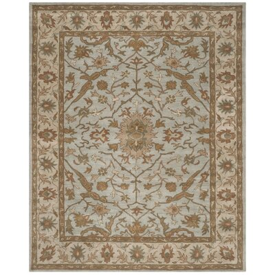 Heritage Tufted Wool Light Blue/Ivory Area Rug Rug Size: Rectangle 8 x 10