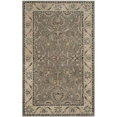 Heritage Gray/Beige Area Rug Rug Size: Rectangle 4 x 6