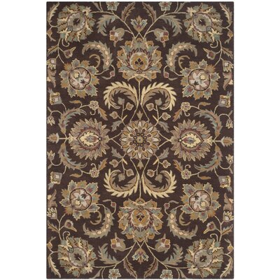 Heritage Tufted Wool Brown/Gold Area Rug Rug Size: Rectangle 6 x 9