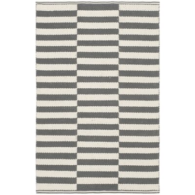 Orwell Hand-Woven Cotton Ivory/Gray Area Rug Rug Size: Rectangle 5 x 7