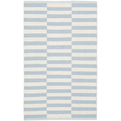 Boody Ivory/Light Blue Area Rug