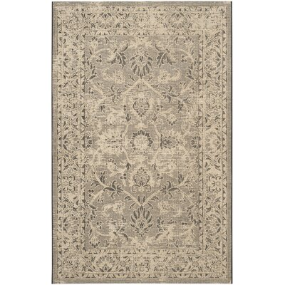 Langleyville Black/Cream Area Rug Rug Size: 8 x 11