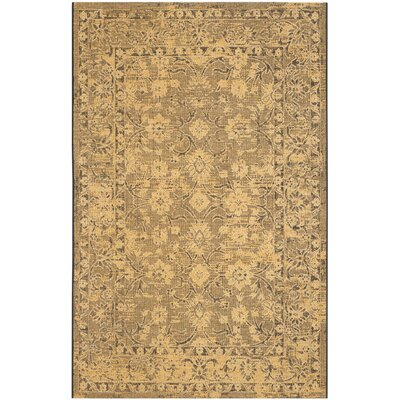 Langleyville Black/Cream Area Rug Rug Size: Rectangle 4 x 6