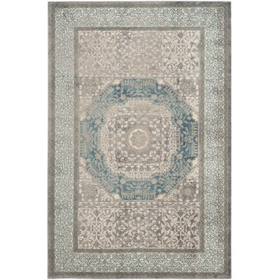 Sofia Light Gray/Blue Area Rug Rug Size: Runner 22 x 8