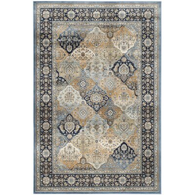 Persian Garden Navy Area Rug Rug Size: Rectangle 51 x 77