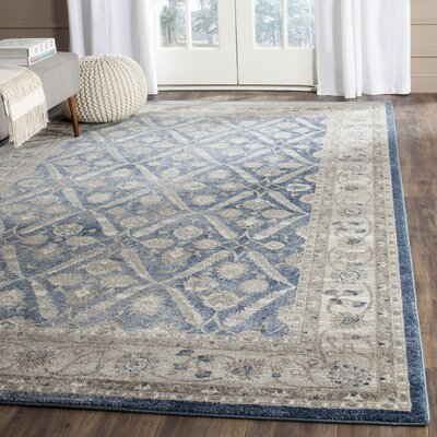 Sofia Power Loom Blue/Beige Area Rug Rug Size: Runner 22 x 12