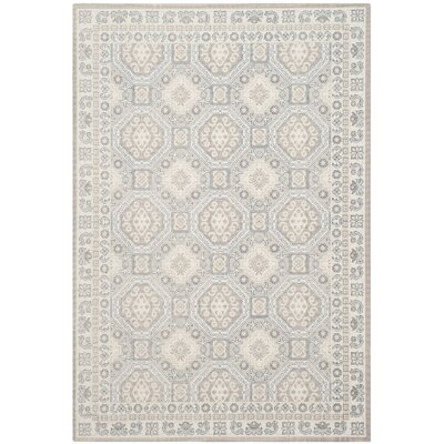 Patina Light Gray/Ivory Area Rug Rug Size: Rectangle 51 x 76
