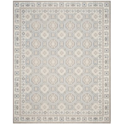 Patina Light Gray/Ivory Area Rug Rug Size: Rectangle 8 x 10