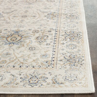 Persian Garden Vintage Ivory/Ivory Area Rug Rug Size: Rectangle 8 x 11