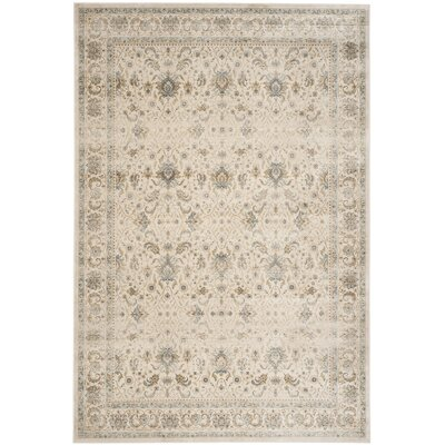 Persian Garden Vintage Ivory/Ivory Area Rug Rug Size: Rectangle 67 x 92
