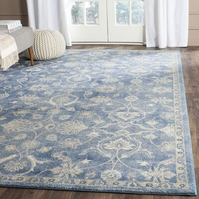 Sofia Beige/Blue Area Rug Rug Size: Rectangle 8 x 11