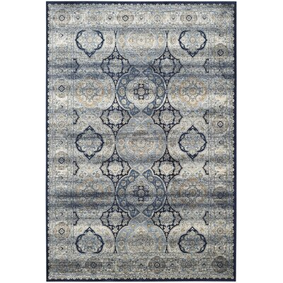 Persian Garden Vintage Navy/Ivory Area Rug Rug Size: Rectangle 8 x 11