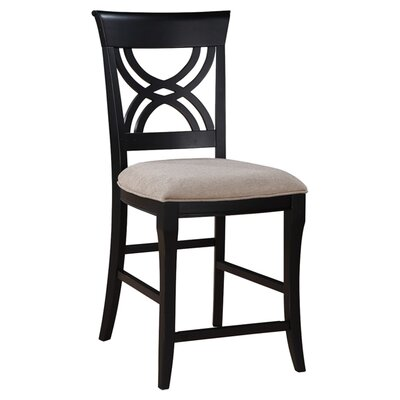 Williamsfield 24 Bar Stool with Cushion (Set of 2) Finish: Black