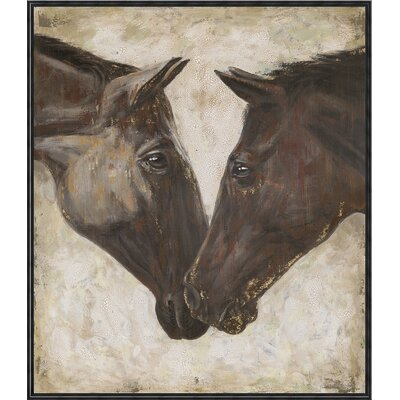 Horse Huddle Framed Painting Print