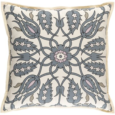 Chafin Linen Throw Pillow Size: 18 H x 18 W x 4 D, Color: Slate/Pastel Pink/Olive/Black/Ivory