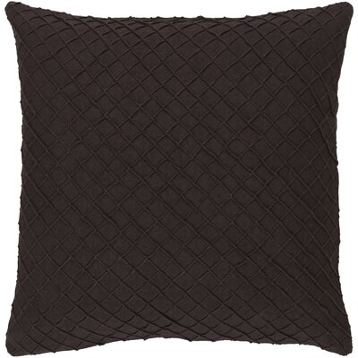 Zurich Linen Throw Pillow Size: 18 H x 18 W x 4 D, Color: Dark Brown