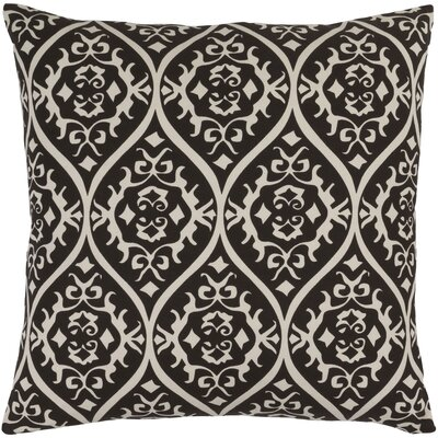 Hoyleton Cotton Throw Pillow Size: 22 H x 22 W x 4 D, Color: Black/Light Gray