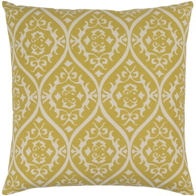 Hoyleton Cotton Throw Pillow Size: 22 H x 22 W x 4 D, Color: Gold/Light Gray